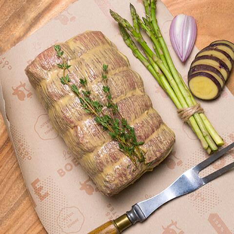 Rôti de bœuf bardé assaisonnée - Chicoine