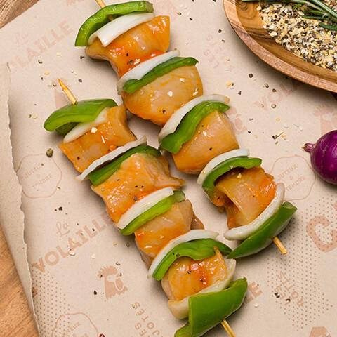 Bochette de poulet miel & ail - Chicoine