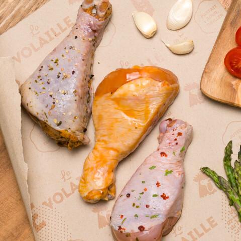 Pilons de poulet 3 saveurs - Chicoine