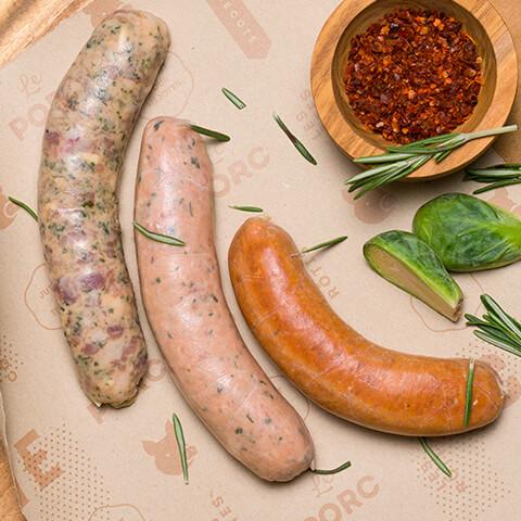 Saucisses maison - Chicoine