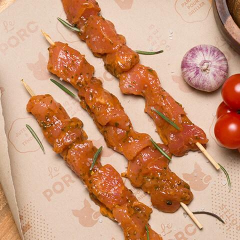 Souvlakis de porc grec - Chicoine